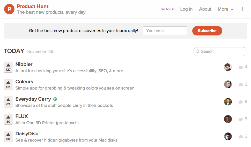 Product Hunt is a great way of getting traffic for your startup for free