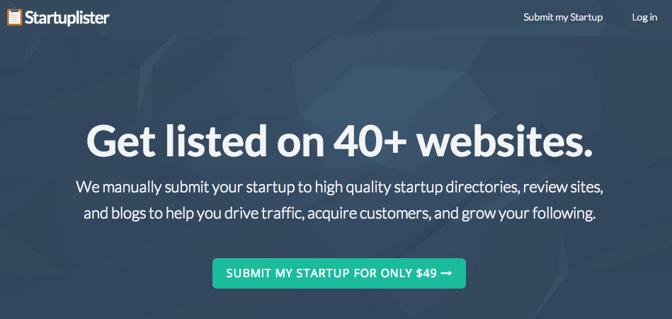 Get traffic for your startup with Startuplister