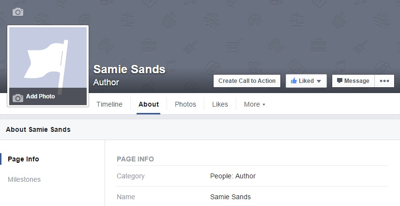 Promoting facebook author page