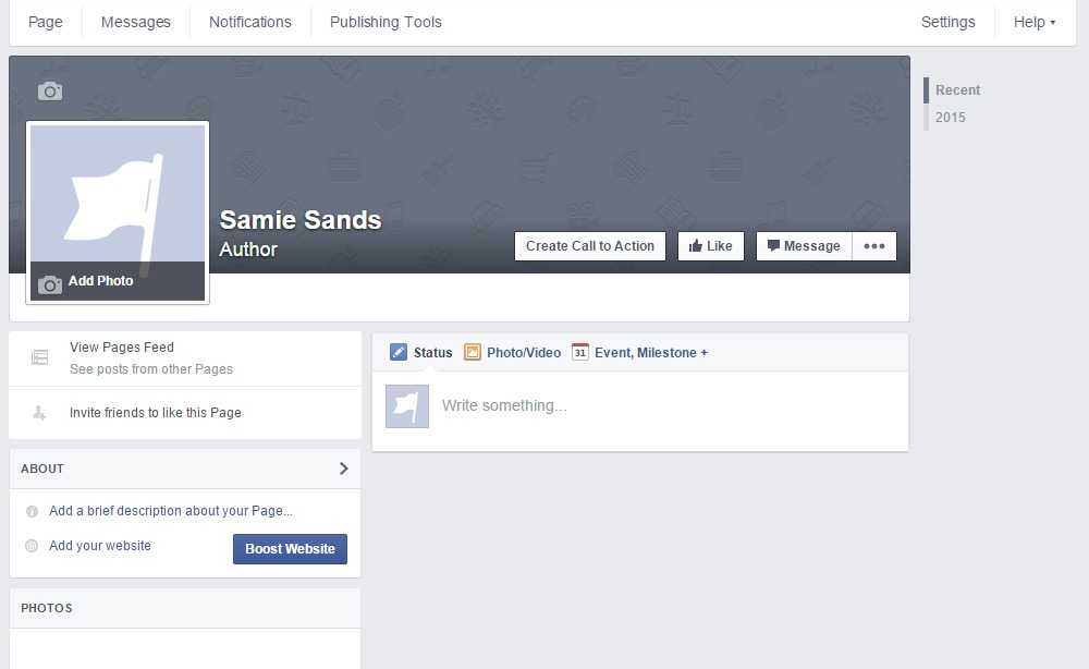 Previev of your facebook author page